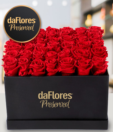 Large Square Box - Preserved Roses