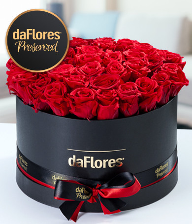 Classic Round Box - Preserved Roses